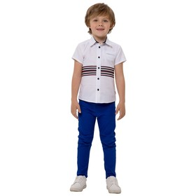 Верхняя сорочка для мальчиков, рост 92 см, цвет белый Ош