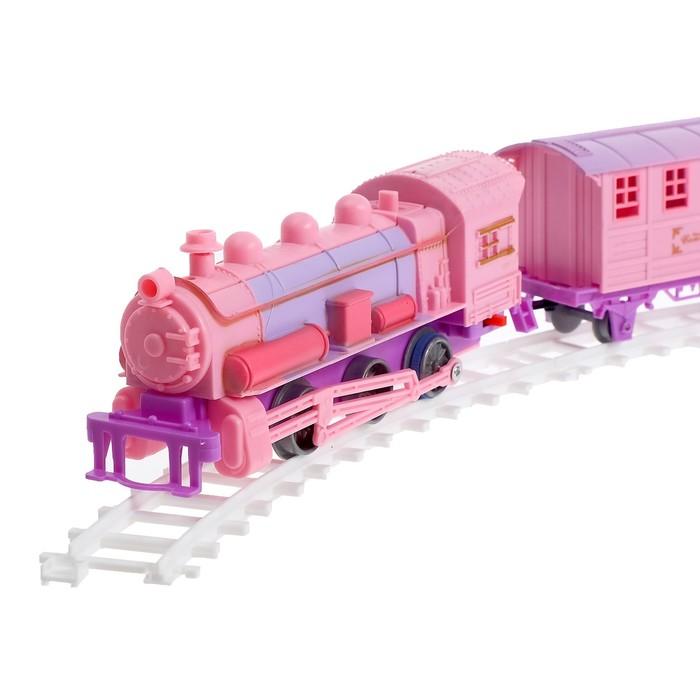 Железная дорога «Поезд принцессы», световые и звуковые эффекты, работает от батареек, в пакете