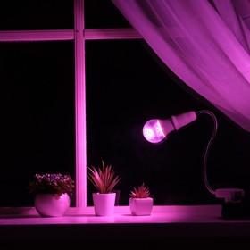 Светильник для растений 7 Вт, 5 мкмоль/с, гибкая ножка 30 см, прямая вилка Ош