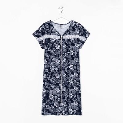Халат женский, цвет синий МИКС, размер 56 - Фото 1