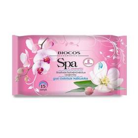 Влажные салфетки для снятия макияжа BioCos Spa Cosmetic, 15 шт.