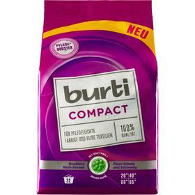 Стиральный порошок Burti Compact, для стирки цветного и тонкого белья, 1,1 кг