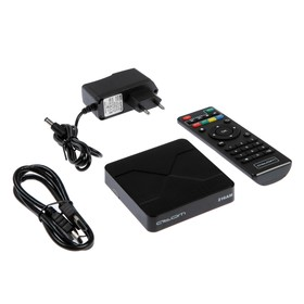 Приставка Смарт ТВ Atom-216AM, 2 Гб, 16 Гб, Android, 4К, Wi-Fi, Bluetooth, HDMI-кабель Ош