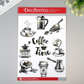 "Наклейки Decoretto ""Время для кофе"" 35х50 см"