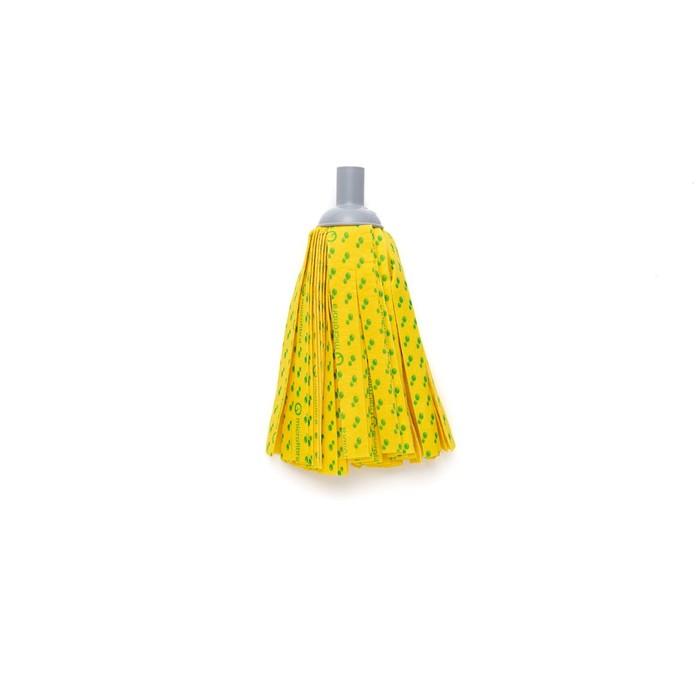 Насадка для швабры с резьбой, ленточная микрофибра, цвет жёлтый