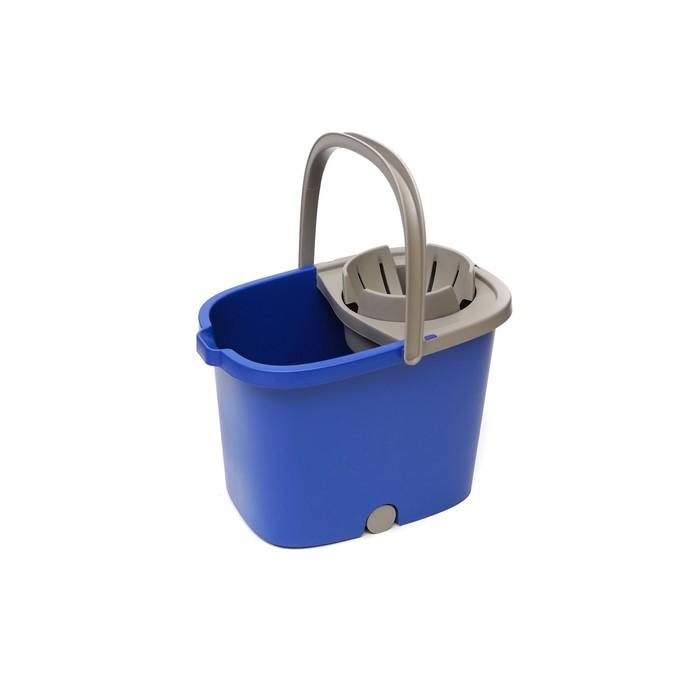 Ведро APOLO с отжимом и роликами, цвет синий, 16 л