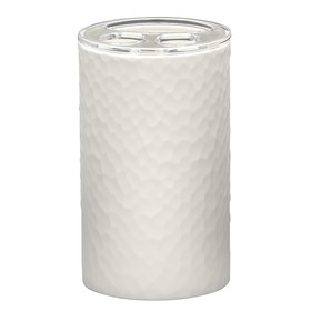 Стаканчик для зубных щёток Crimp, цвет белый