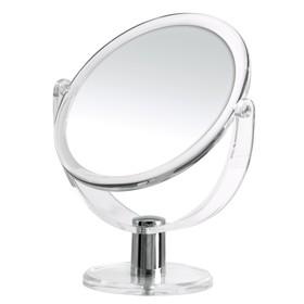 Зеркало косметическое настольное Kida, 1х/3х, прозрачное Ош