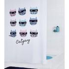Штора для ванных комнат Catgang, 180х200 см