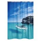 Штора для ванных комнат Blue Paradise, цвет синий/белый, 180х200 см