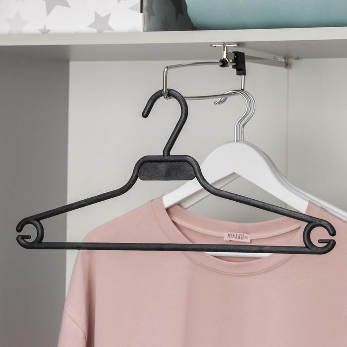 Вешалка-плечики блузочная, размер 50-52, цвет чёрный