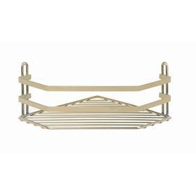 Угловая полка в ванную, 20×20×10 см, цвет золотистый