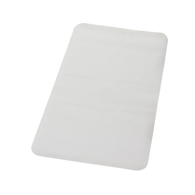 Коврик противоскользящий Basic, цвет белый, 36х71 см, Aqm - Фото 1