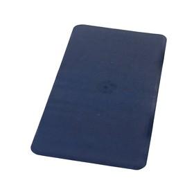 Коврик противоскользящий Basic, цвет синий, 36х71 см, Aqm