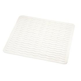 Коврик противоскользящий Playa, цвет белый 54х54 см