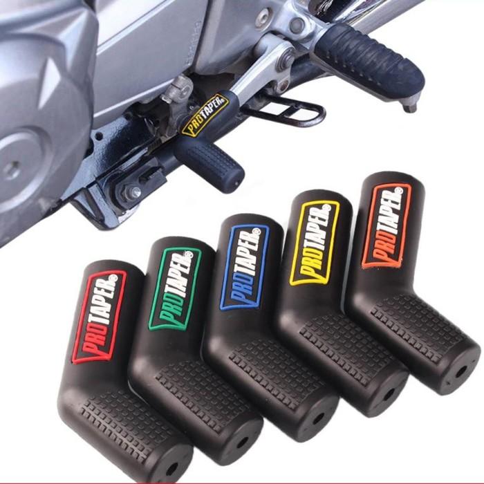 Резиновая накладка на рычаг переключения передач мотоцикла, черный, рисунок микс