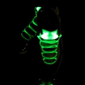 Светодиодные шнурки, 80 см, от 2 х CR2032, 3 режима, цвет свечения зеленый Ош