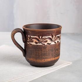 """Чашка """"Чайная"""", роспись ангобом, декор, 0.3 л, микс"""