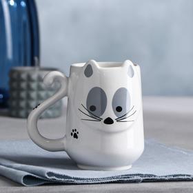 "Кружка ""Кошка"" белая, 0.45 л"