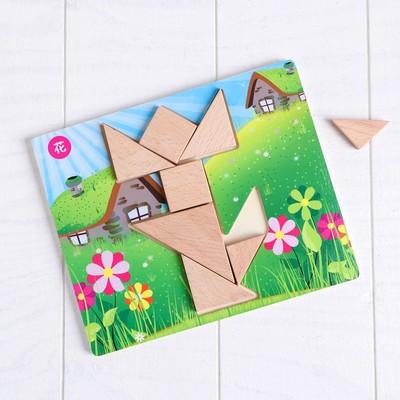 Деревянная игрушка Пазл «Собери сам», 4 шт. в наборе - Фото 1