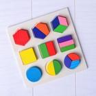 Деревянная игрушка «Цветные фигуры» МИКС