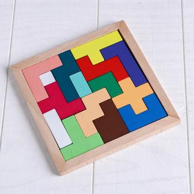 Деревянная игрушка «Головоломка», 15 деталей, 14,5×14см - Фото 1