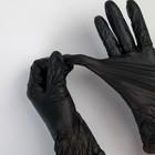Перчатки виниловые A.D.M., размер L, 100 шт/уп, цвет чёрный - Фото 2