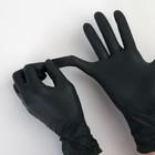 Перчатки A.D.M. нитриловые, размер M, 8 гр, 100 шт/уп, цвет чёрный - Фото 2