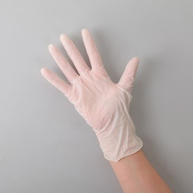 Перчатки A.D.M. латексные опудренные, размер L, 100 шт/уп, 10,8 гр