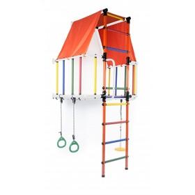 ДСК «Индиго L плюс» модульный, 930 × 1150 × 2260 мм, цвет белый/оранжевый/радуга