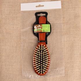 Расчёска массажная  Vortex «Овал», с деревянными зубчиками