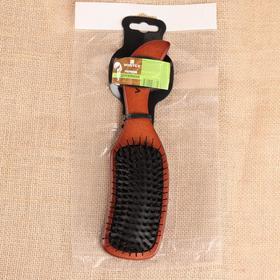 Расчёска массажная  Vortex «Волна», с пластиковыми зубчиками и натуральной щетиной