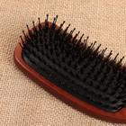 Расчёска массажная, цвет «тёмное дерево» - Фото 3