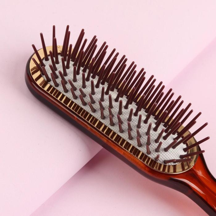 Расчёска массажная, цвет «янтарь»
