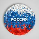 Тарелка бумажная «Россия»