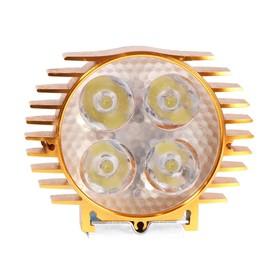 Фара cветодиодная для мототехники, 4 LED, IP65, 4 Вт, направленный свет Ош