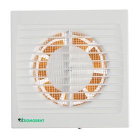 Вентилятор вытяжной 'Домовент' 100 С, d=100 мм, 220-240 В, цвет белый Ош