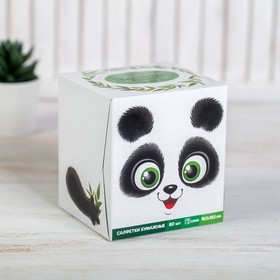 """Салфетки бумажные в коробке """"Панда"""", 80 шт."""