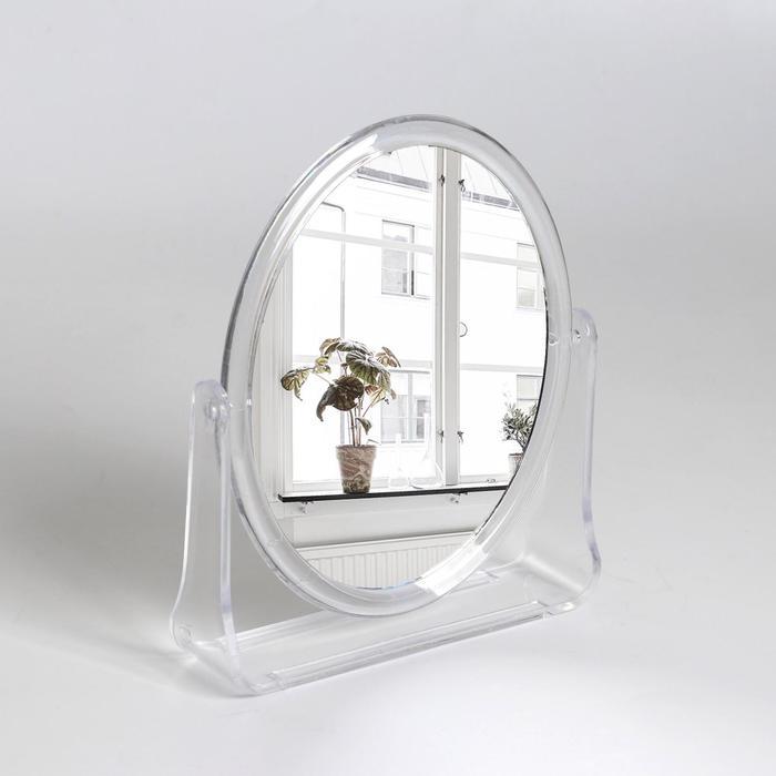 Зеркало настольное, двустороннее, зеркальная поверхность 11,5 × 14,5 см, цвет прозрачный