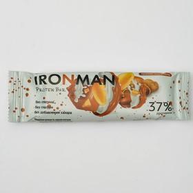 Батончик протеиновый IRONMAN, арахис-карамель, 50 г