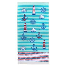 Полотенце «Регата», размер 33 х 70 см, цвет синий