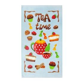 Полотенце «Чаепитие», размер 30 х 50 см, цвет бежевый