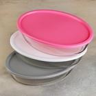 Форма для запекания овальная, 1,6 л, с пластиковой крышкой BPA Free, цвет МИКС - Фото 6