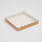 Коробочка для печенья, крафт, 20 х 20 х 3 см