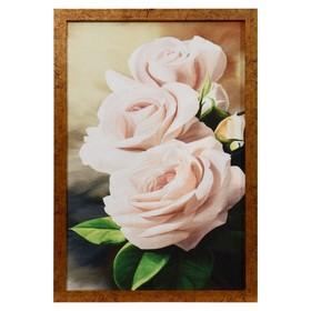Гобеленовая картина 'Розочки' 44*64 см рамка микс Ош