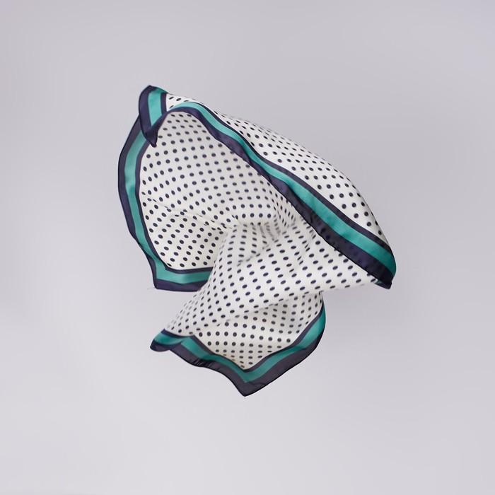 """Платок женский """"Горох"""", размер 70*70 см, цвет зеленый"""