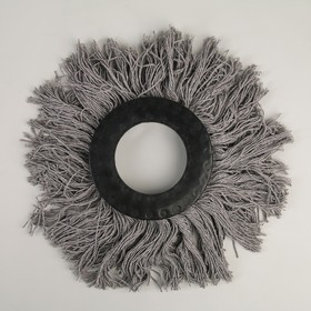 Насадка для швабры с отжимом-центрифугой, комплектующие к набору, х/б, 120 гр, цвет серый Ош