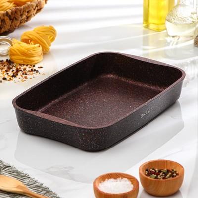 Противень Granit Ultra, 335×220×55 мм, антипригарное покрытие, цвет красный