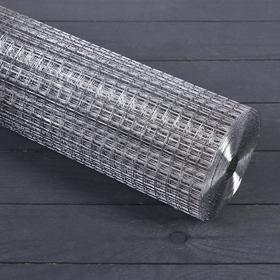 Сетка оцинкованная, сварная, 1 × 10 м, ячейка 12,5 × 12,5 мм, d = 0,6 мм, метал Ош