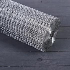 Сетка оцинкованная, сварная, 1 × 10 м, ячейка 12,5 × 12,5 мм, d = 1 мм, металл Ош